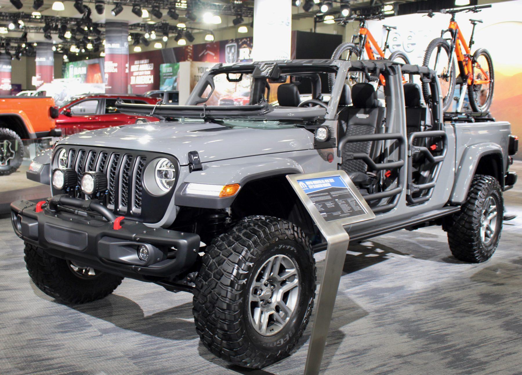 Jeep Gladiator with Mopar parts