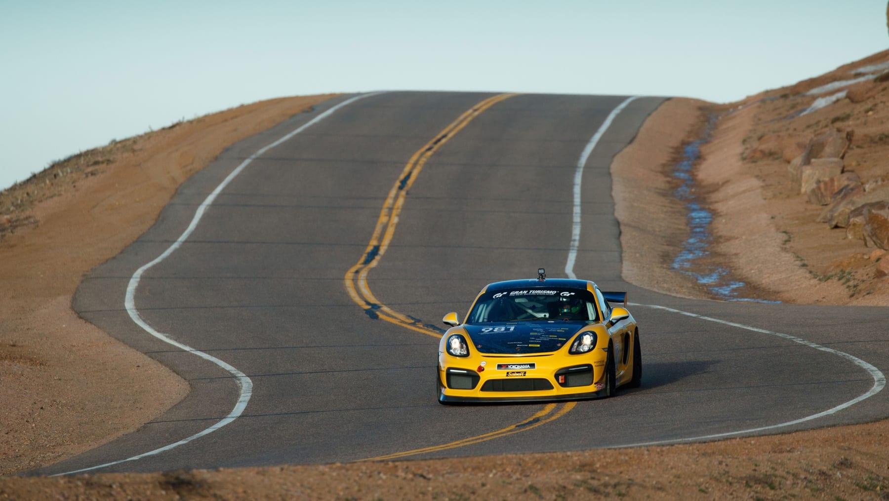 Porsche Cayman GT4 Clubsport at Pikes Peak