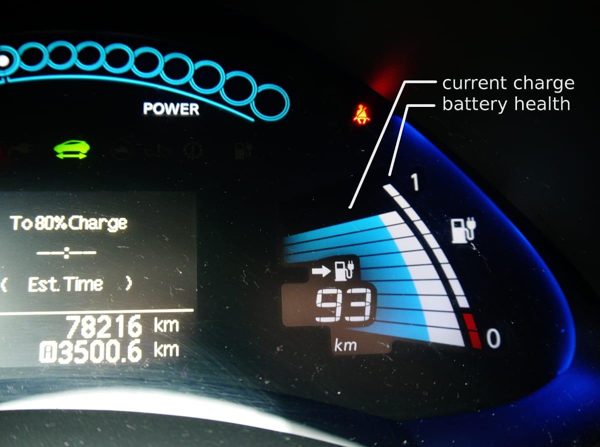 2012 nissan leaf gauge cluster mileage