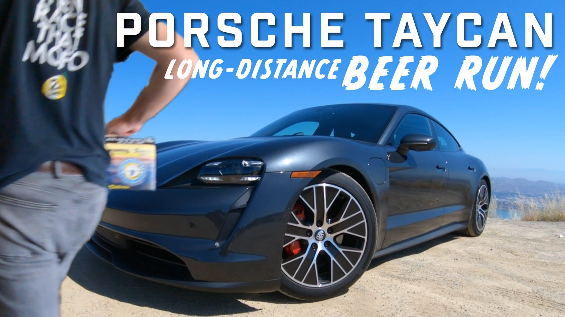 Porsche Taycan 4S beer run
