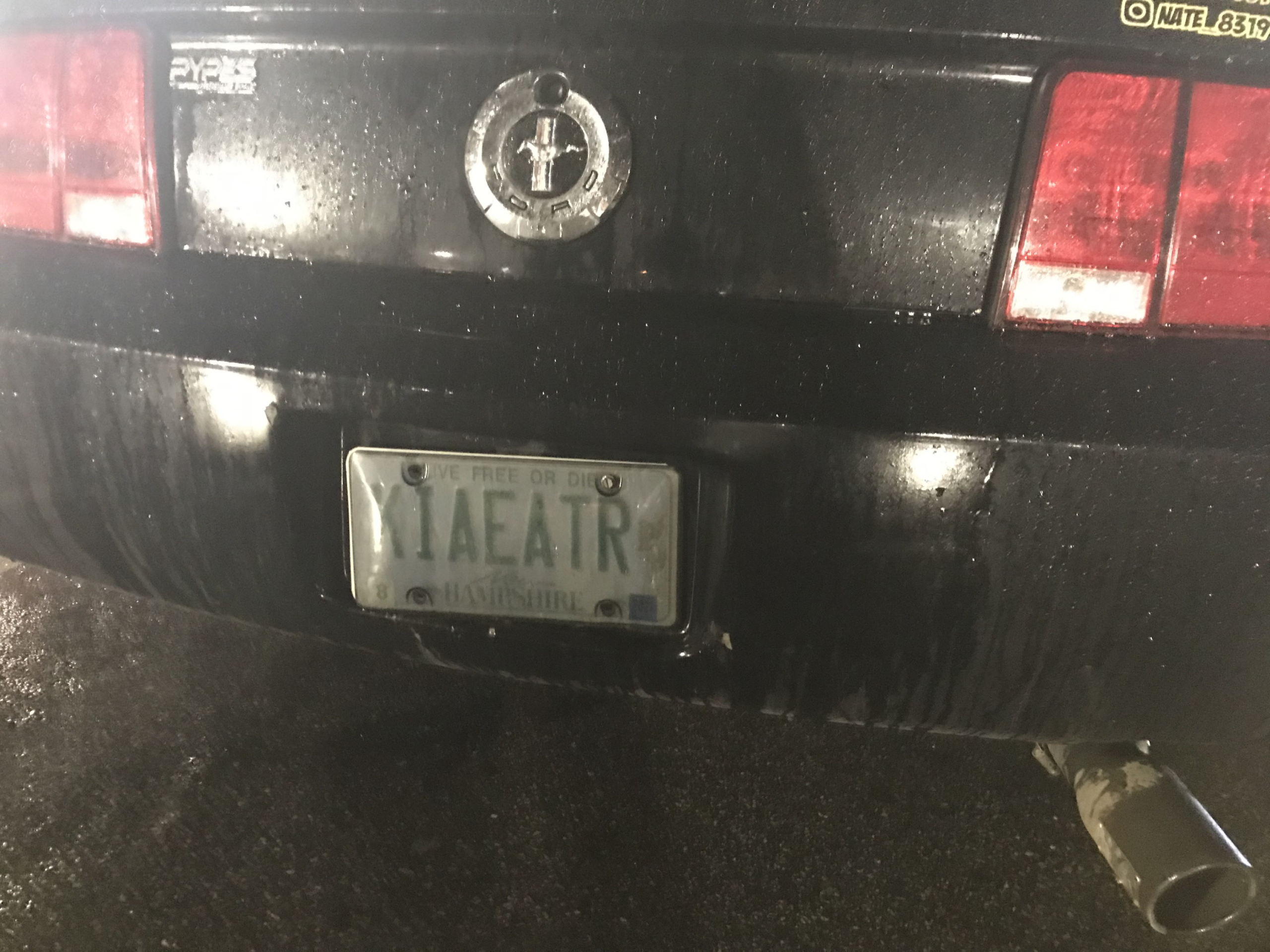 liaeatr, mustang, kia eater, license plate