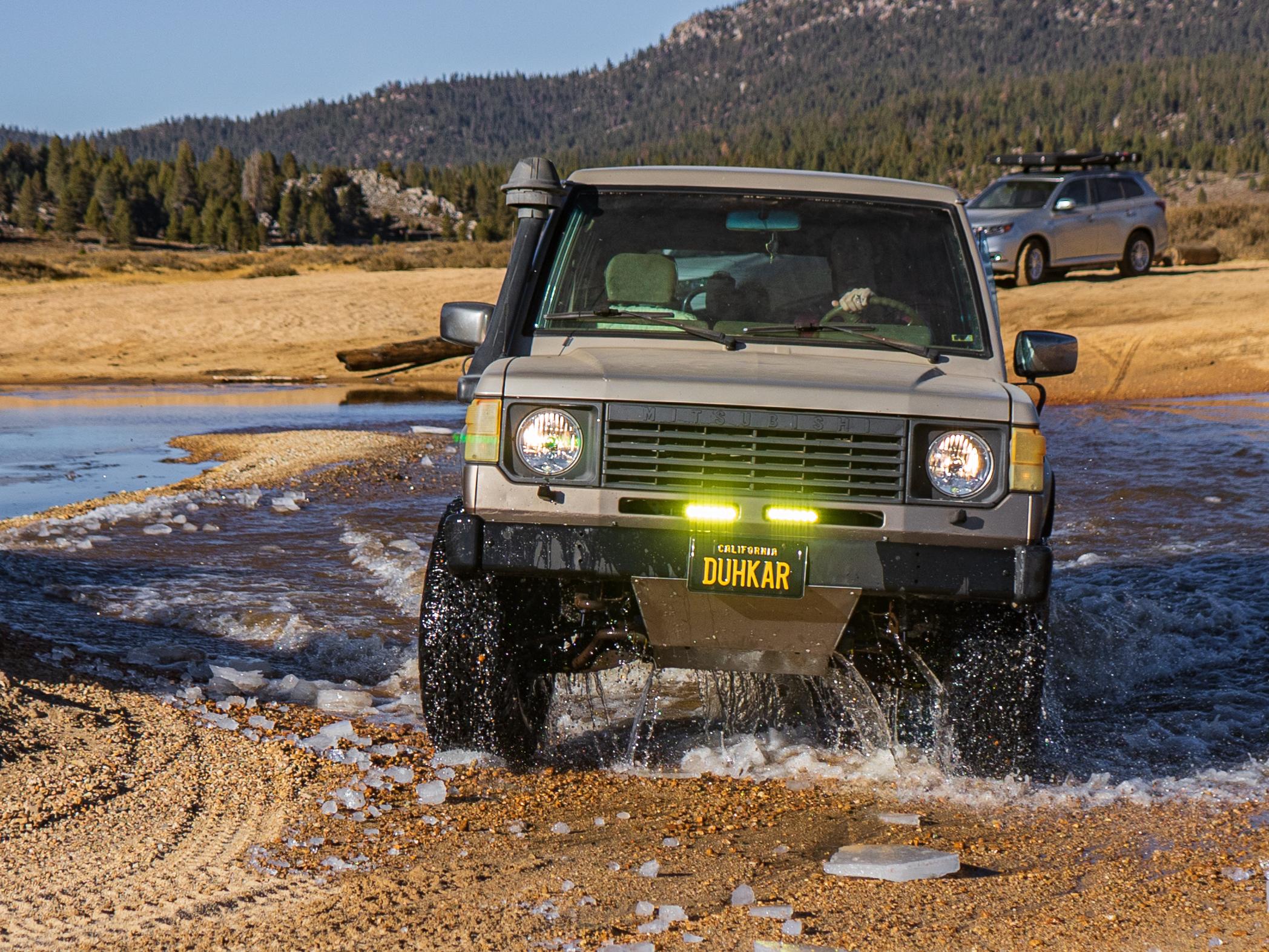 Mitsubishi Montero water crossing