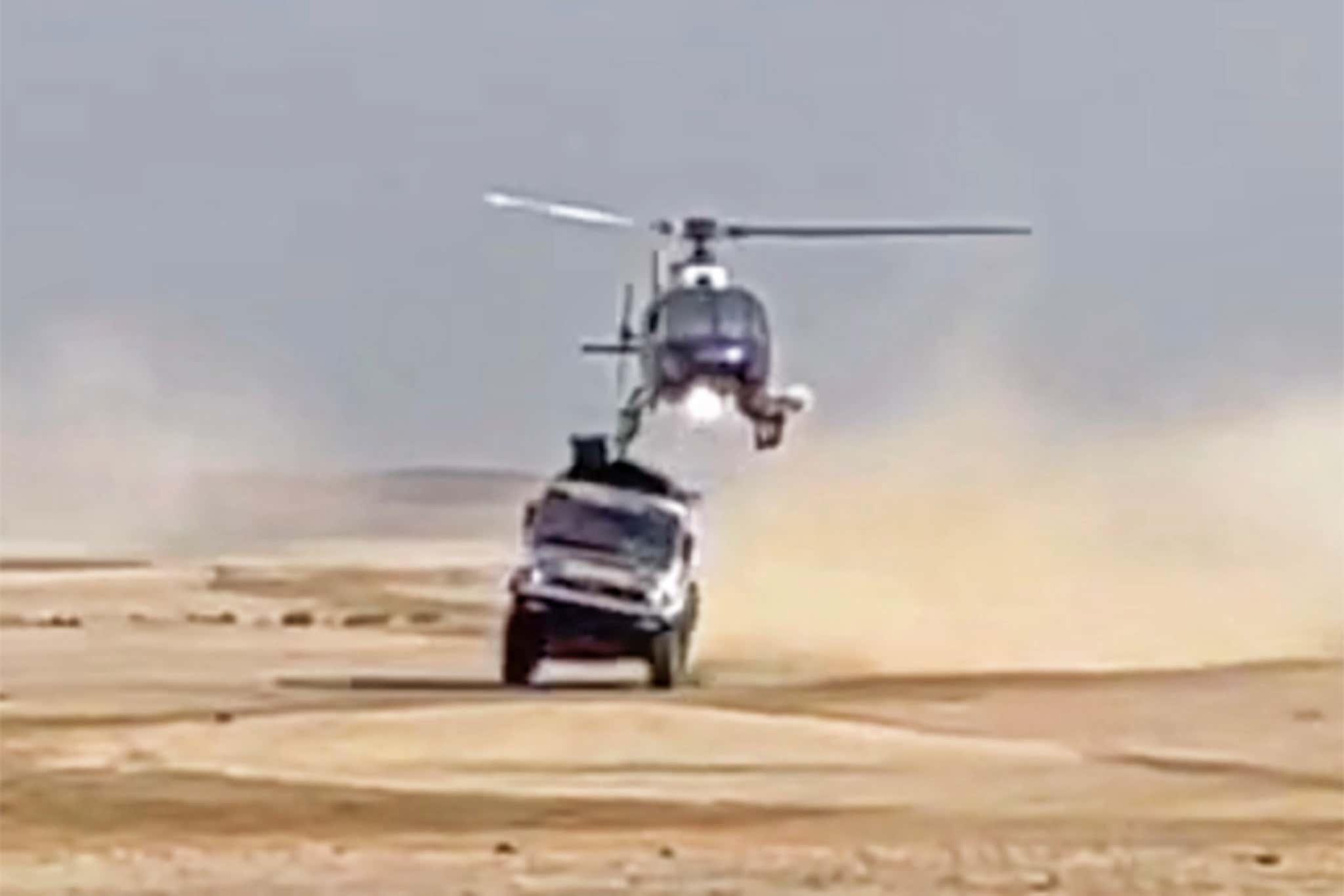 Dakar truck & helicopter touch