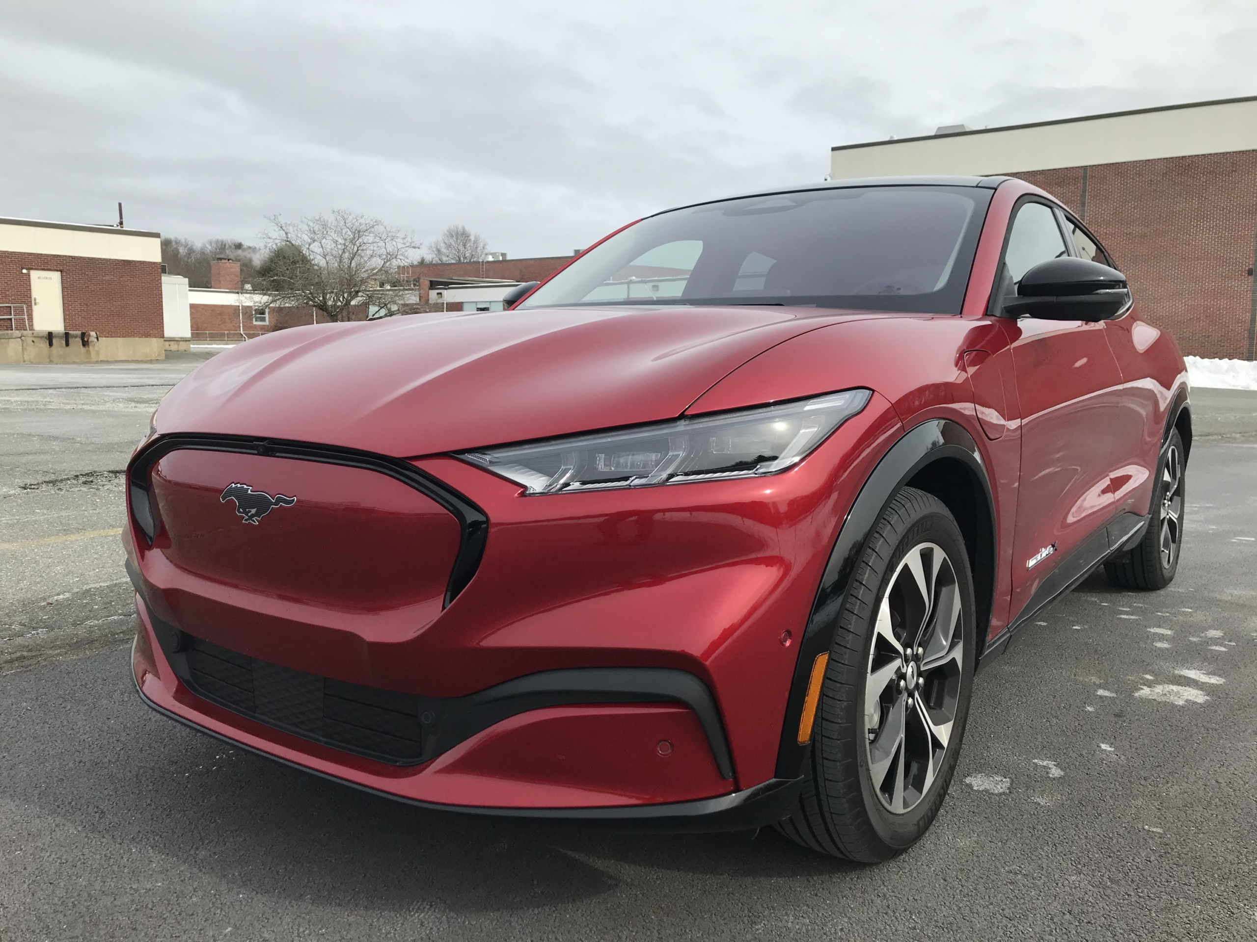 2021 ford mustang mach-e premium front red