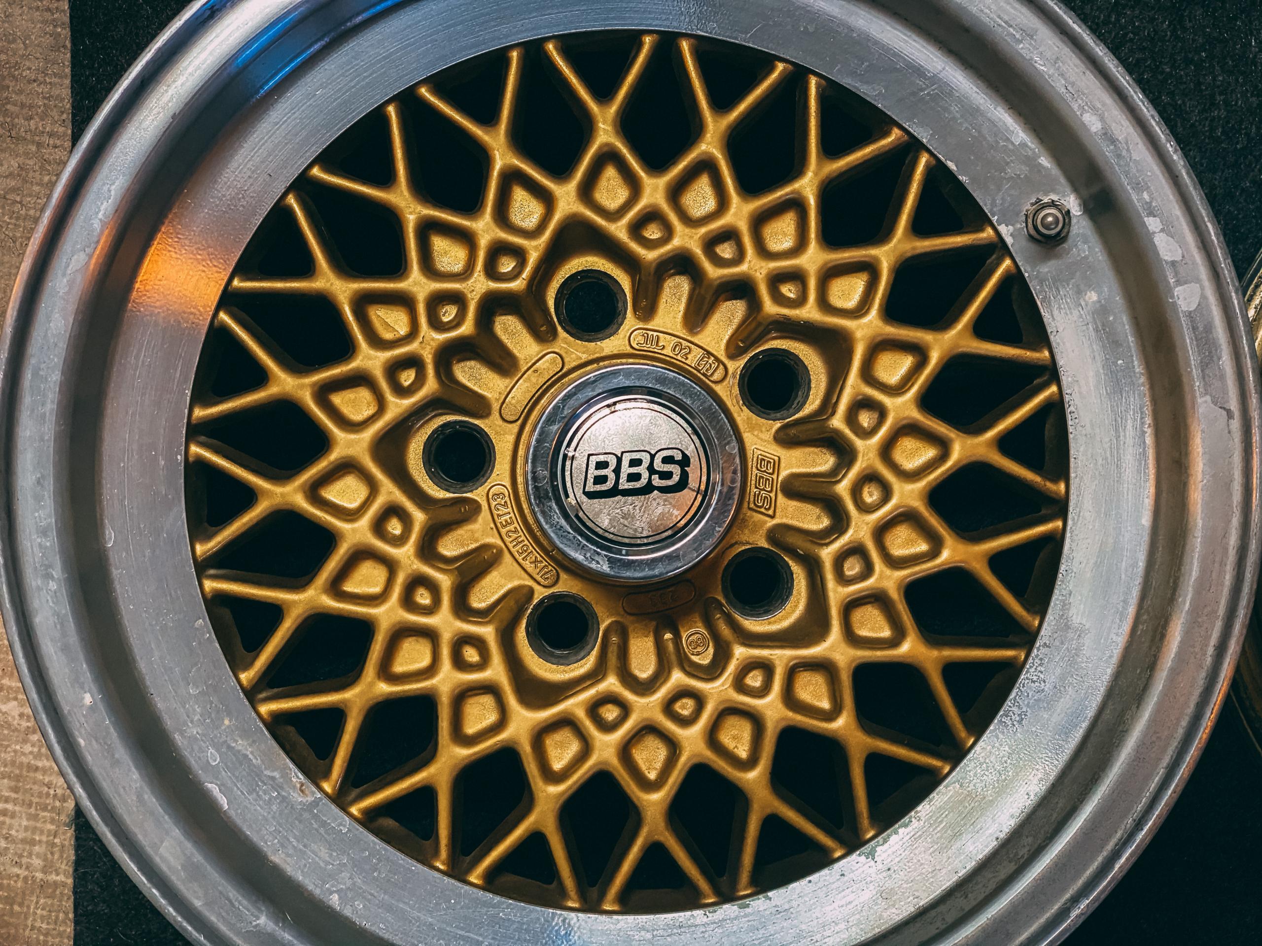BBS gold basket weave