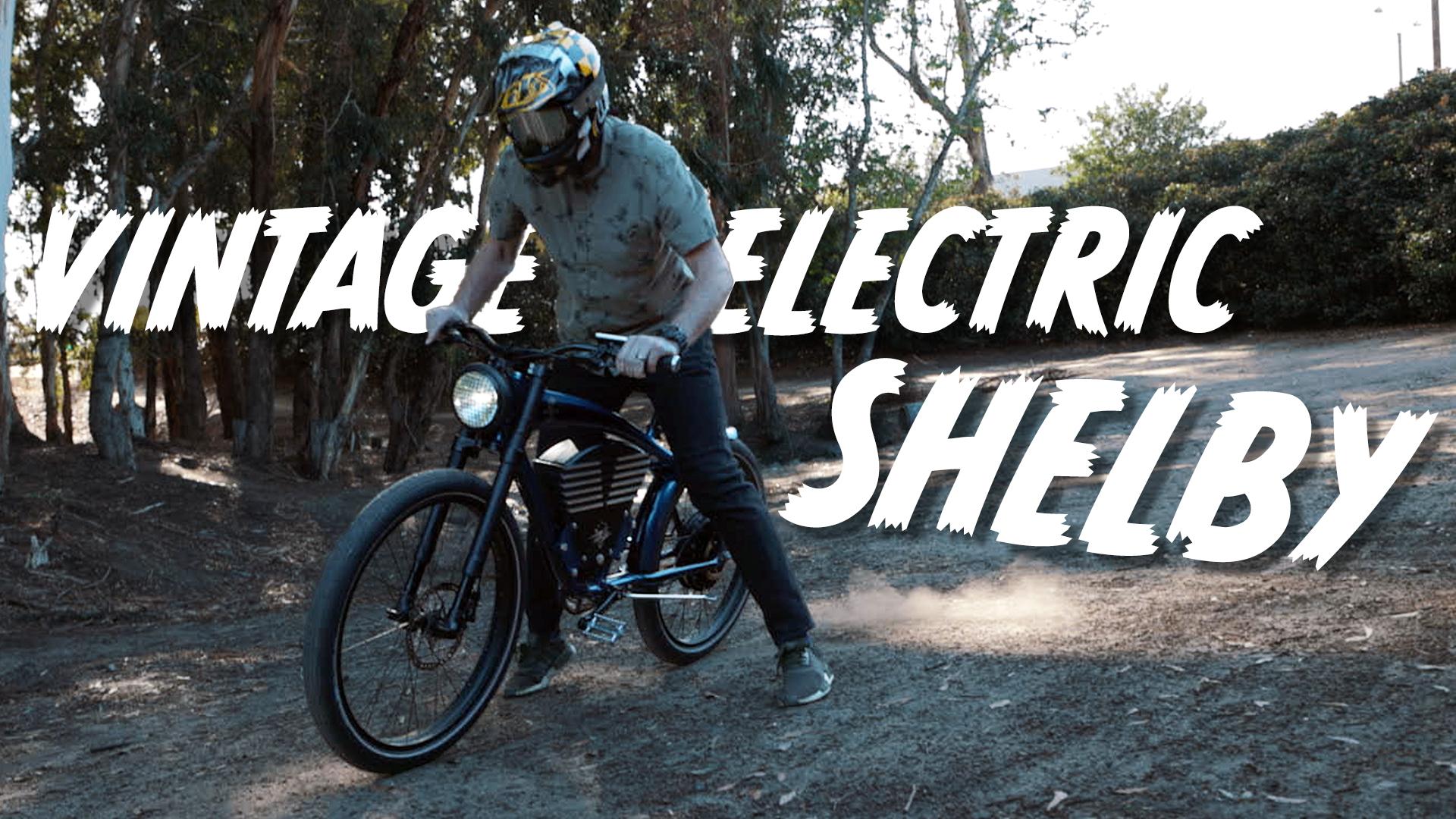 burnout on a vintage electric shelby e-bike