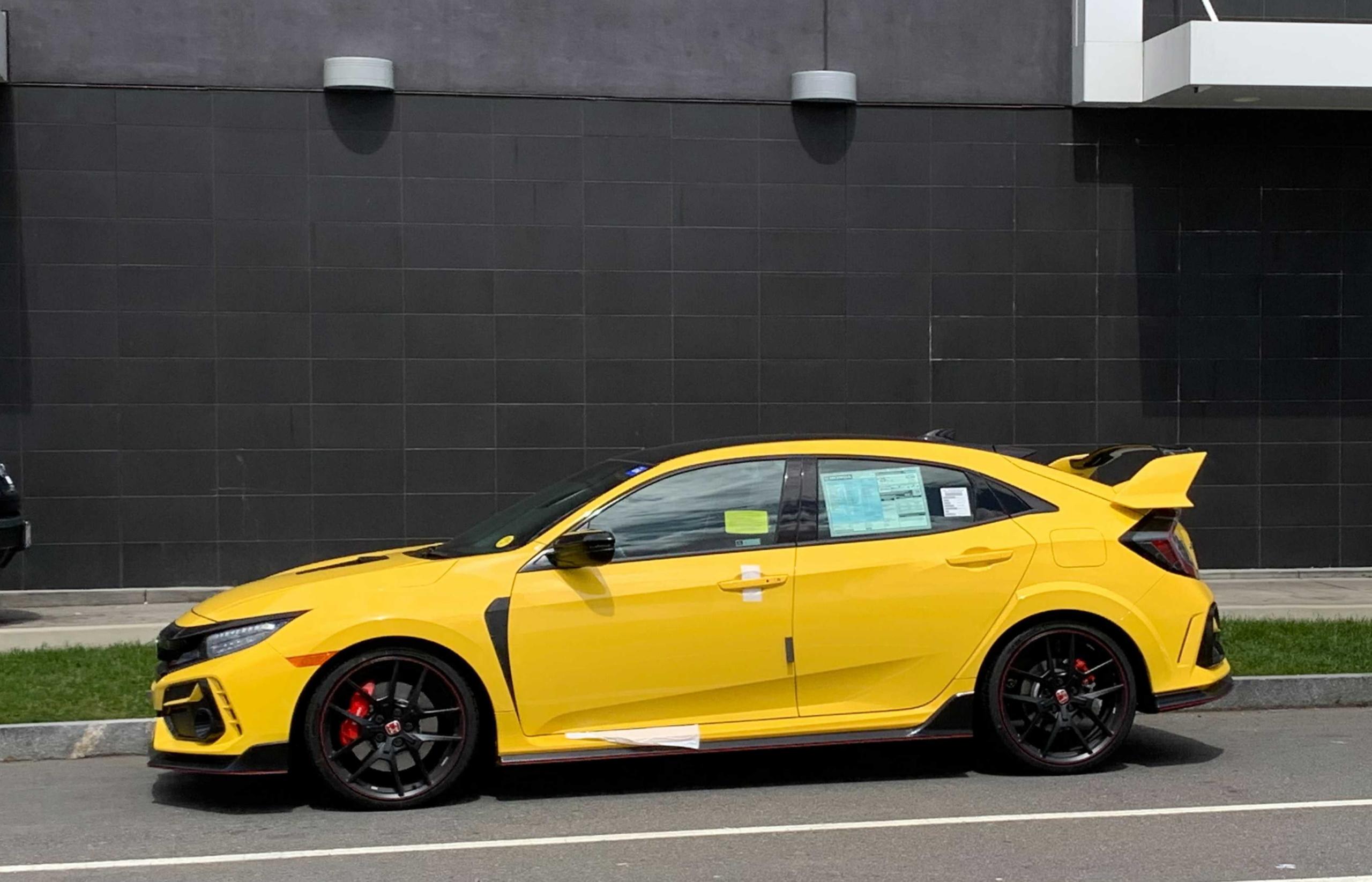 yellow civic type r
